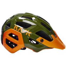 Kask Rex Helm dunkelgrün/orange